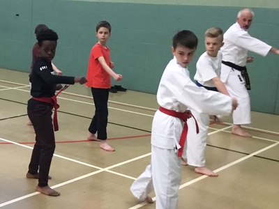 Visit to Sensei Malcolm Hewitson's dojo at Springwood Leisure Centre, Oakwood
