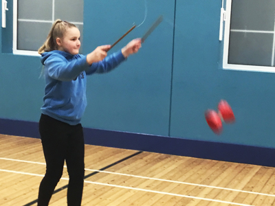 Circus Skills at Hardwick Primary School